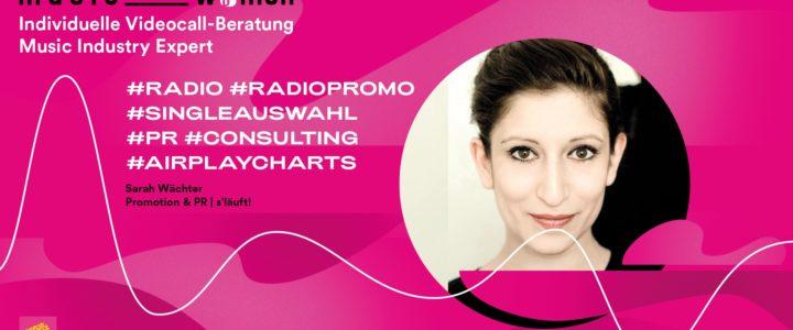 Individuelle Beratung – Music Industry Expert w/ Sarah Wächter
