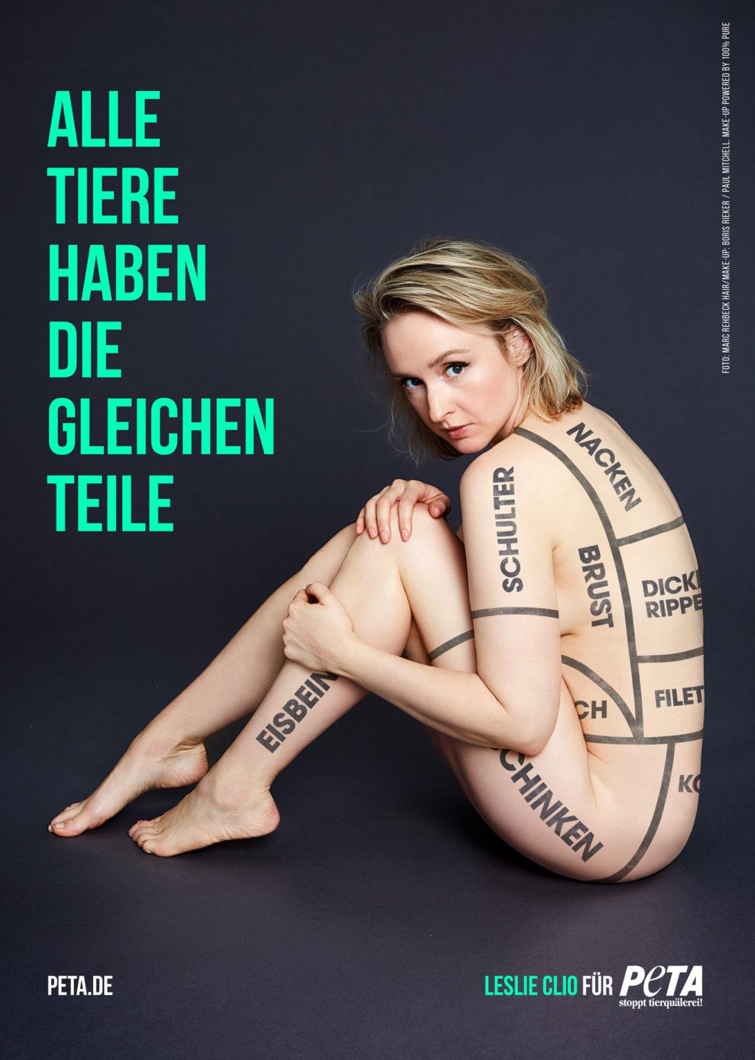 Leslie Clio - Zeigt Haut für Peta! - s'läuft! Radio-Promotion
